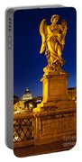 Ponte Sant Angelo Portable Battery Charger by Brian Jannsen