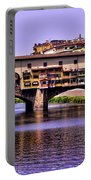 Ponte Vecchio Bridge - Florence Portable Battery Charger by Jon Berghoff