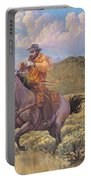 Pony Express Rider At Look Out Pass Portable Battery Charger