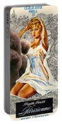 Poodle Art - Una Parisienne Movie Poster Portable Battery Charger