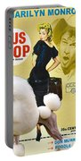 Poodle Standard Art - Bus Stop Movie Poster Portable Battery Charger