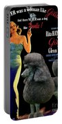 Poodle Standard Art - Gilda Movie Poster Portable Battery Charger