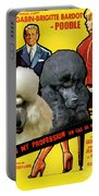 Poodle Standard Art - Love Is My Profession Movie Poster Portable Battery Charger
