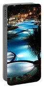 Pool At Night Portable Battery Charger