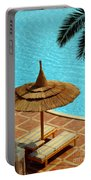 Poolside Relaxation Portable Battery Charger