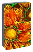 Pop Art Daisies 8 Portable Battery Charger