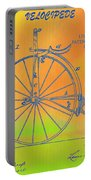 Pop Art Velocipede Patent Portable Battery Charger