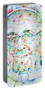 Pope Francis Watercolor Portrait Portable Battery Charger