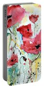 Poppies 05 Portable Battery Charger by Ismeta Gruenwald