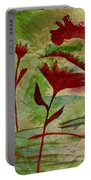 Poppies Abstract 2 Portable Battery Charger