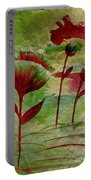 Poppies Abstract 3 Portable Battery Charger