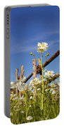 Poppies And Fence 2am-110209 Portable Battery Charger