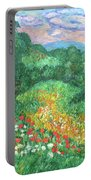 Poppies And Lace Portable Battery Charger