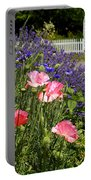 Poppies And Lavender Portable Battery Charger