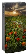 Poppies Art Portable Battery Charger