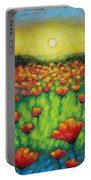 Poppies At Twilight Portable Battery Charger