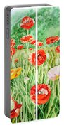 Poppies Collage I Portable Battery Charger
