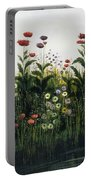 Poppies, Daisies And Thistles Portable Battery Charger
