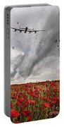 Poppies Dropped  Portable Battery Charger
