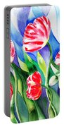 Poppies Field Square Quilt  Portable Battery Charger
