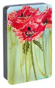 Poppies I Portable Battery Charger