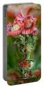 Poppies In A Poppy Vase Portable Battery Charger