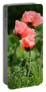 Poppies In My Garden Portable Battery Charger