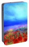 Poppies In The Mist Portable Battery Charger