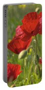 Poppies In Yorkshire Portable Battery Charger