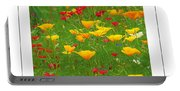 Poppies Of Tuscany Poster Portable Battery Charger