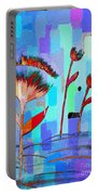 Poppies On Blue 3 Portable Battery Charger