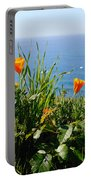 Poppies On The Pacific Portable Battery Charger
