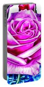 Poppin Purple Rose Portable Battery Charger