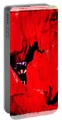 Giant Poppy Art  Portable Battery Charger
