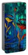 Poppy At Night Abstract 1 Portable Battery Charger