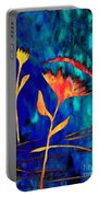 Poppy At Night Abstract 2 Portable Battery Charger