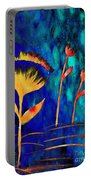 Poppy At Night Abstract 3  Portable Battery Charger