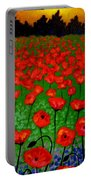 Poppy Carpet  Portable Battery Charger