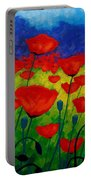 Poppy Corner II Portable Battery Charger by John  Nolan