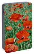 Poppy Field 2 Portable Battery Charger