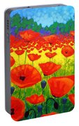 Poppy Field V Portable Battery Charger