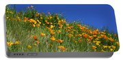 Poppy Flowers Landscape Art Prints Poppies Portable Battery Charger