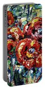 Poppy Red Flowers Portable Battery Charger