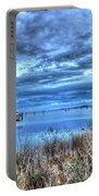 Poquoson Yacht On Stormy Morning Portable Battery Charger