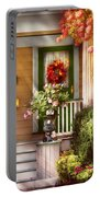 Porch - Cranford Nj - Simply Pink Portable Battery Charger by Mike Savad