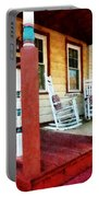 Porch With Red White And Blue Railing Portable Battery Charger
