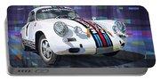 Porsche 356 Martini Racing Portable Battery Charger