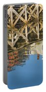 Port Clyde Maine Lobster Traps Reflecting In Water Portable Battery Charger