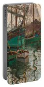 Port Of Trieste Portable Battery Charger by Egon Schiele