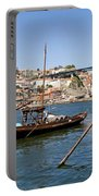 Port Wine Boats In Porto City Portable Battery Charger